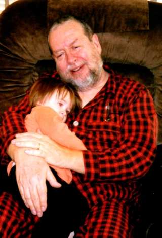 My father with my daughter, Kyra