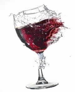 wine glass shatter